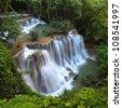 Deep Forest beautiful waterfall, Huay Mae Khamin Waterfall ,Thailand - stock photo