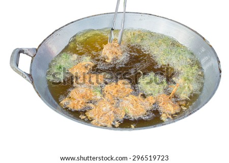 Deep fried vegetables - stock photo