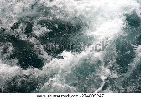 Deep sea bubble surface - stock photo