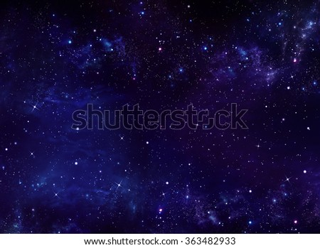 deep space, abstract blue background - stock photo