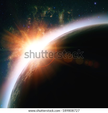 Deep space, abstract sci-fi backgrounds for your design - stock photo