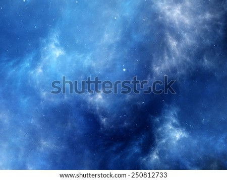 Deep space fractal artwork, computer generated abstract background - stock photo