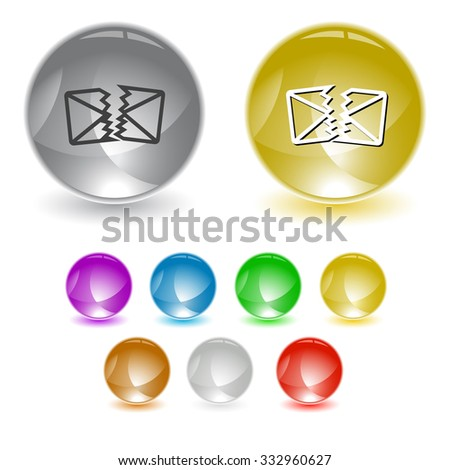 defective mail. Raster interface element. - stock photo