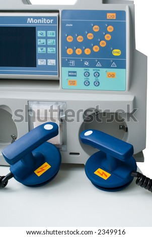 Defibrillator in ER - stock photo