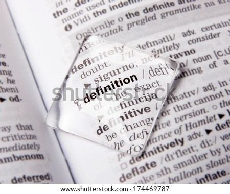 Definition - stock photo