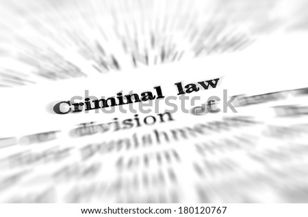 Definition of criminal law in dictionary - stock photo