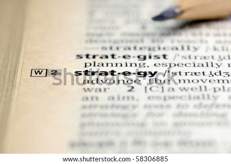 Definition of strategy. - stock photo