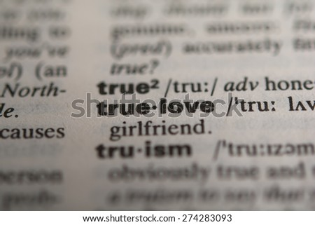 Definition of true love, close up selective focus - stock photo