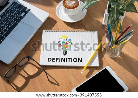 definition word business concept modern office desktop top view stock photo awesome office table top view shutterstock id