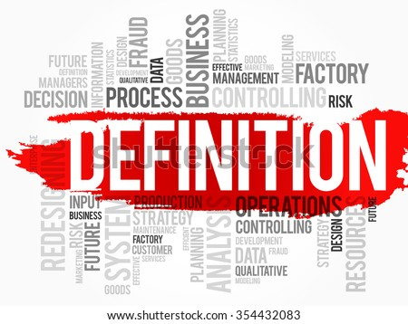 DEFINITION word cloud, business concept background - stock photo