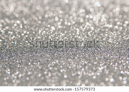 defocused abstract silver background - stock photo
