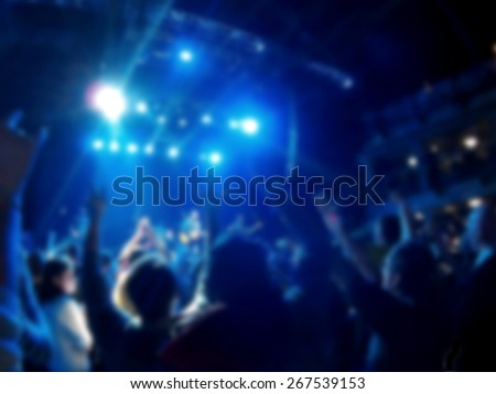 Defocused background rock concert - stock photo