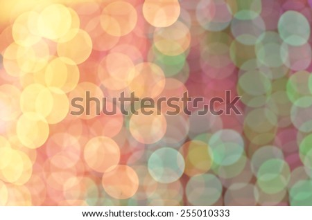 Defocused blur abstract background of colored lights