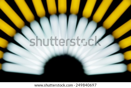Defocused blurred lights abstract pattern background - stock photo