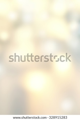 Defocused Bokeh twinkling lights - Glitter Abstract circular bokeh background of Christmas light. Golden, silver and white Vintage background. - stock photo