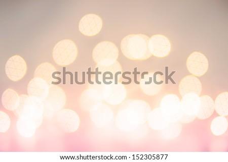 Defocused Bokeh twinkling lights Vintage background. Christmas background. - stock photo
