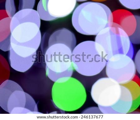 Defocused christmas Lights Bokeh - stock photo