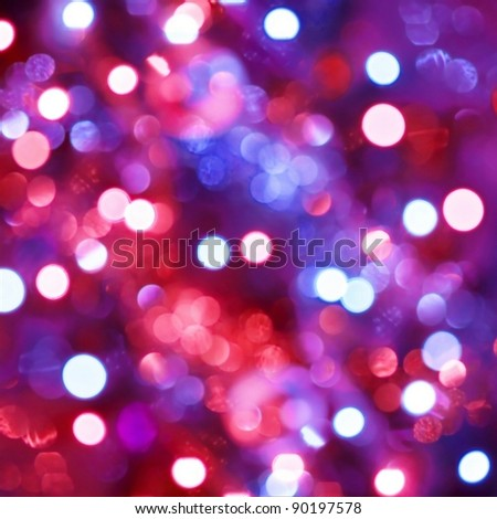 Defocused light dots abstract background - stock photo