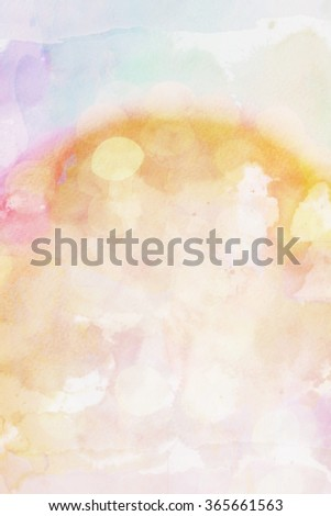 Defocused lights in watercolor, good abstract background - stock photo