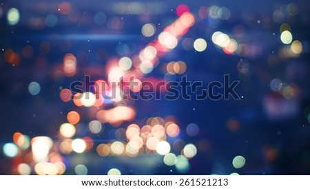 defocused lights of night city - stock photo