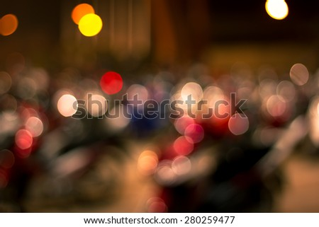 Defocused ligths bokeh background - stock photo