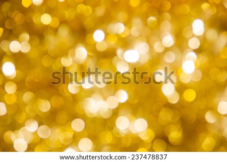 Defocused ligths of Christmas tree - stock photo