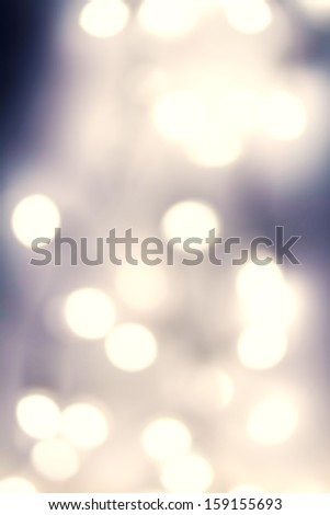 Defocused Night Vintage shiny lights Christmas Bokeh background like splashes. Christmas blur background with glowing bokeh - stock photo