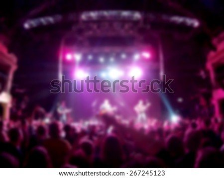 Defocused   people at the concert, the club floors - stock photo