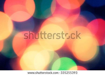 Defocused spots of light, blurred background - stock photo
