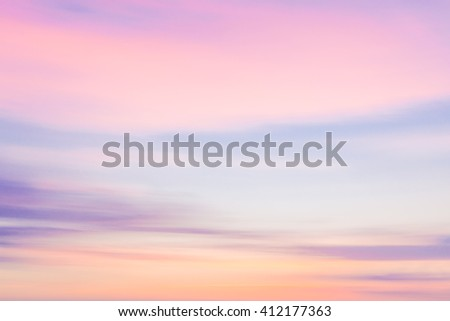 Defocused sunset sky nature background with blurred panning motion. - stock photo