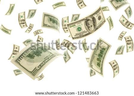 Deformed bills on white background. - stock photo