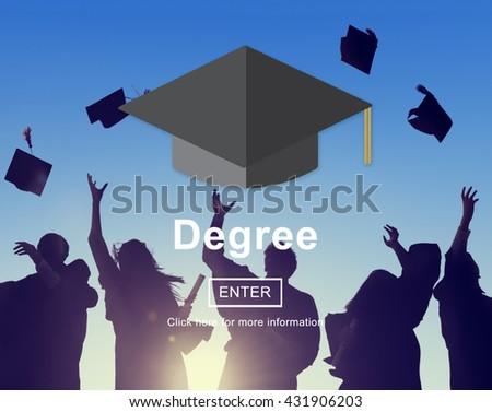 Degree Education Diploma Education Level Concept - stock photo