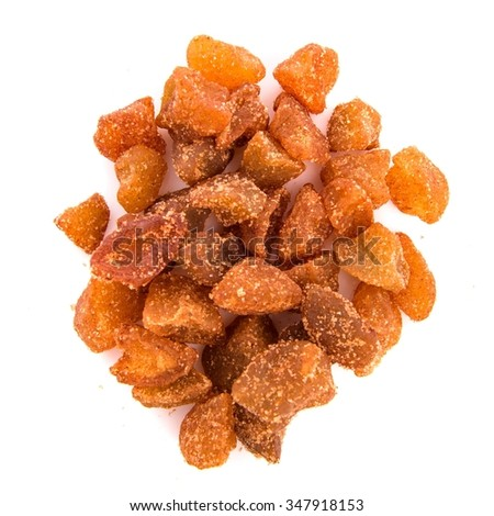 Dehydrated apple with cinnamon - stock photo