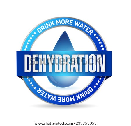 dehydration stamp illustration design over a white background - stock photo