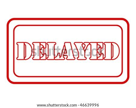 delayed - stock photo