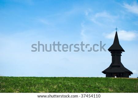 Deleni monastery in Dobrogea region, Romania - stock photo
