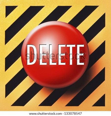 Delete button - stock photo