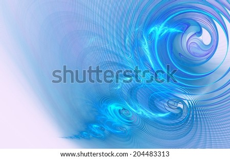 Delicate and translucent abstract background in turquoise blue with purple tones - stock photo
