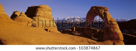 Delicate Arch, Arches National Park, Moab, Utah - stock photo