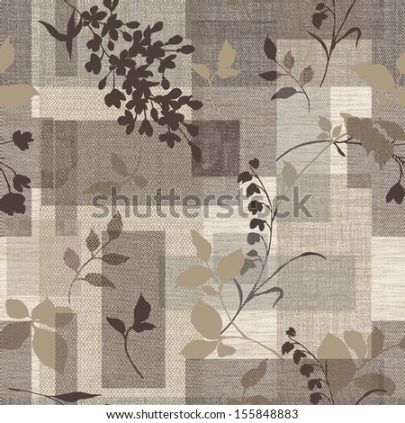 Delicate curl pattern seamless background  - stock photo