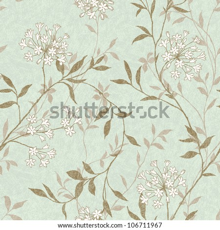 Delicate curl pattern seamless  background -  For easy making seamless pattern use it for filling any contours - stock photo