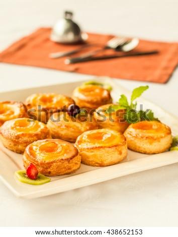 Delicate fruit pastries - stock photo