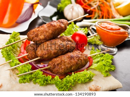 delicious and healthy meal - stock photo