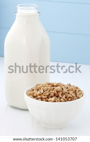 Delicious and healthy toasted oats cereal. - stock photo