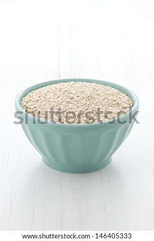 Delicious and nutritious oatmeal ingredients , the perfect healthy way to start your day. - stock photo