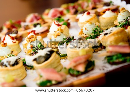Delicious appetizer close-up - stock photo
