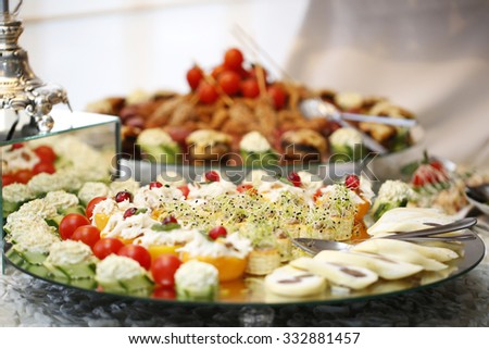 Delicious buffet food - stock photo