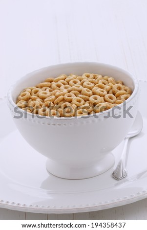 delicious cereal honey cereal loops  - stock photo