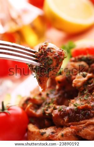 Delicious chicken breast - stock photo