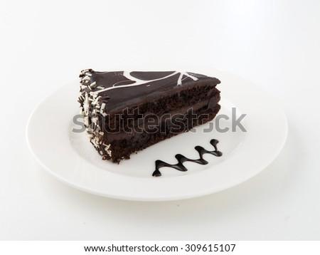 Delicious chocolate cake - stock photo